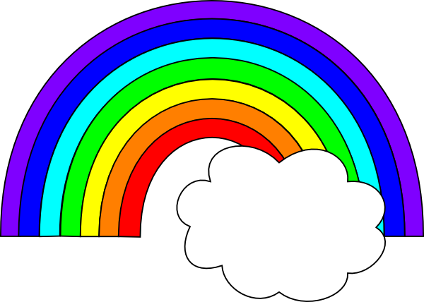 Rainbow With One Cloud Clip Art At Clker Com   Vector Clip Art Online