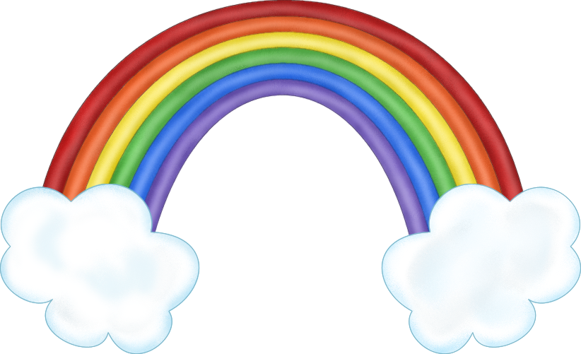 Rainbows With Clouds Clipart Rainbow Clouds