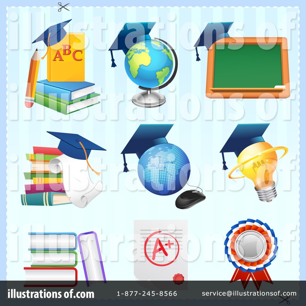 Royalty Free  Rf  Education Clipart Illustration By Cartoon Character