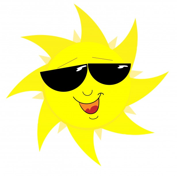 Smiling Sun Face In Sunglasses By Karen Arnold