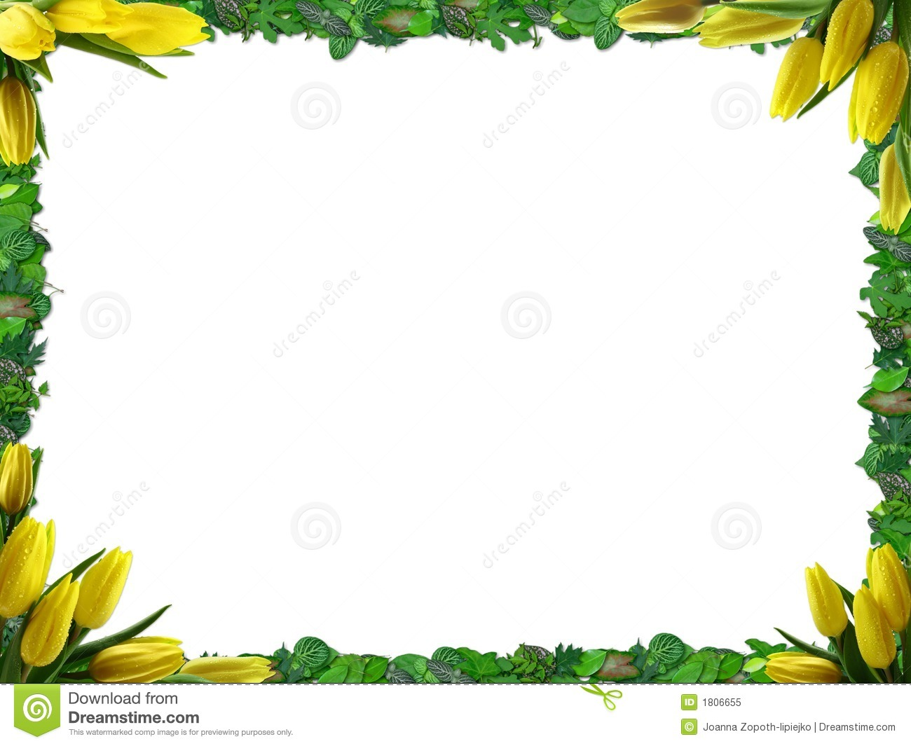 Spring Border Royalty Free Stock Photo   Image  1806655