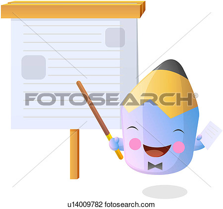 Stationery Education Colored Pencil Pencil Smiling Character