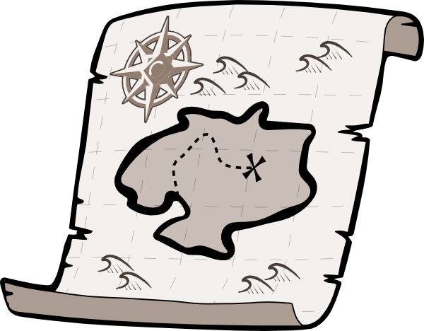 Treasure Map Clipart Black And White Treasure Map Hi Png
