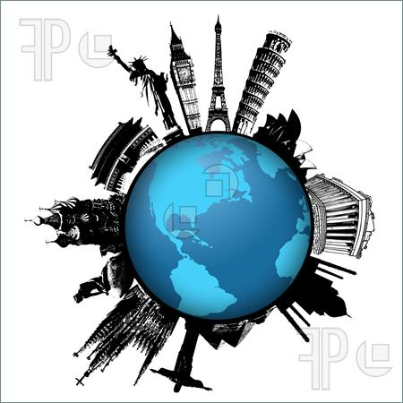 World Greatest Tourist Attractions 1331201 Clipart