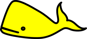 Yellow Whale Clip Art At Clker Com   Vector Clip Art Online Royalty
