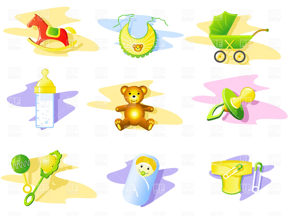 Baby And Toys Icons Download Royalty Free Vector Clipart  Eps