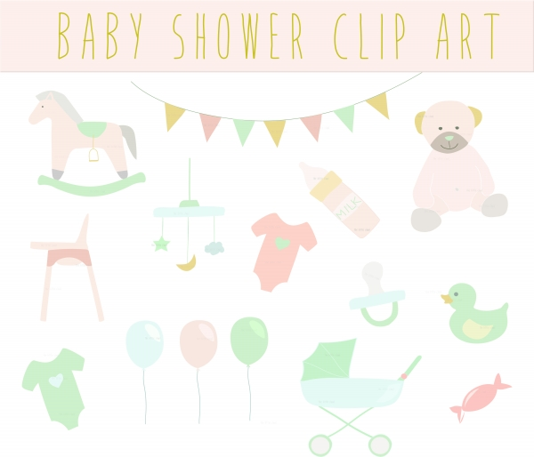 Baby Shower Vintage Clip Art Clipart  Baby Shower Clipart  15 Images