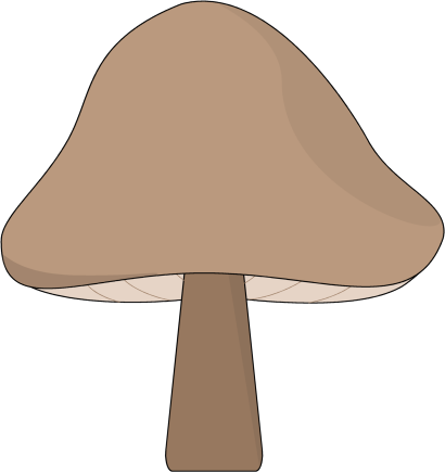 Brown Mushroom Clip Art Image   Brown Mushroom With A Brown Cap And
