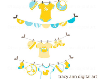 Clip Art Baby Laundry Line