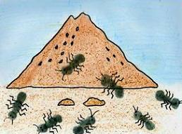 Free Ant Hill Clipart