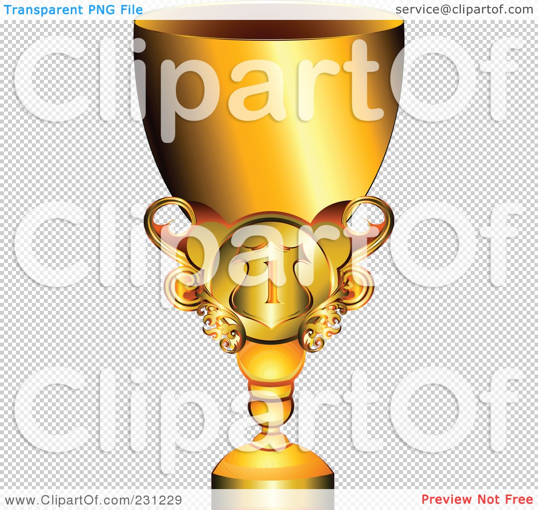 Gold Trophy Clipart