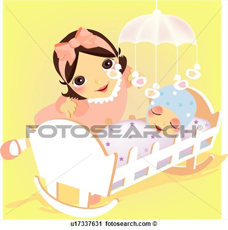 Mammy Mobile Bed Baby Head Band  Fotosearch   Search Clip Art