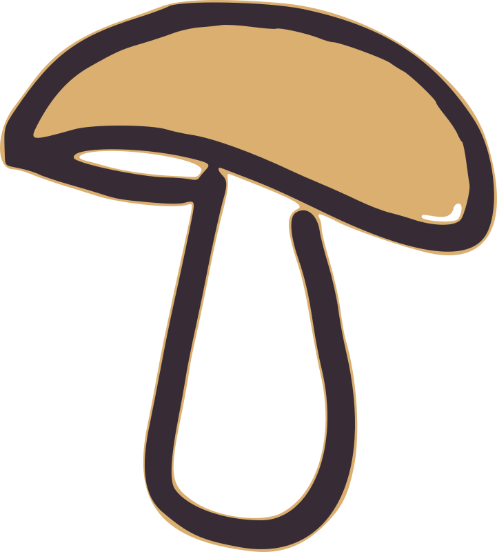 Mushroom By Global Quiz   A Mushroom Made By A Thick Line