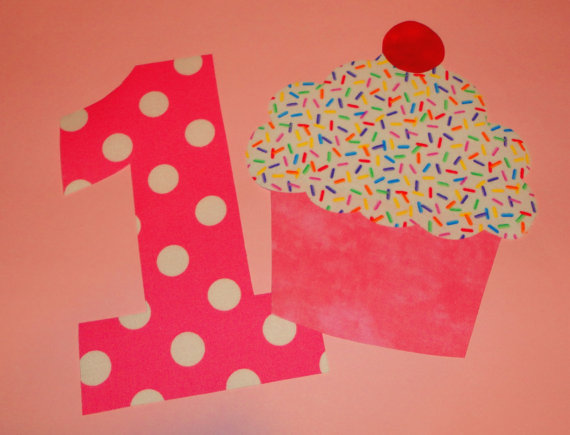 Pink Polka Dot Number 1 Applique Pink Polka Dot