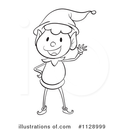 Royalty Free  Rf  Christmas Elf Clipart Illustration By Colematt