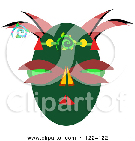 Royalty Free  Rf  Illustrations   Clipart Of Tribal Masks  1