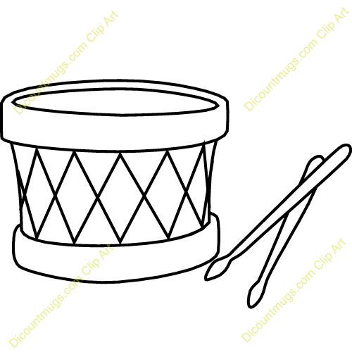 Drum Black And White C...
