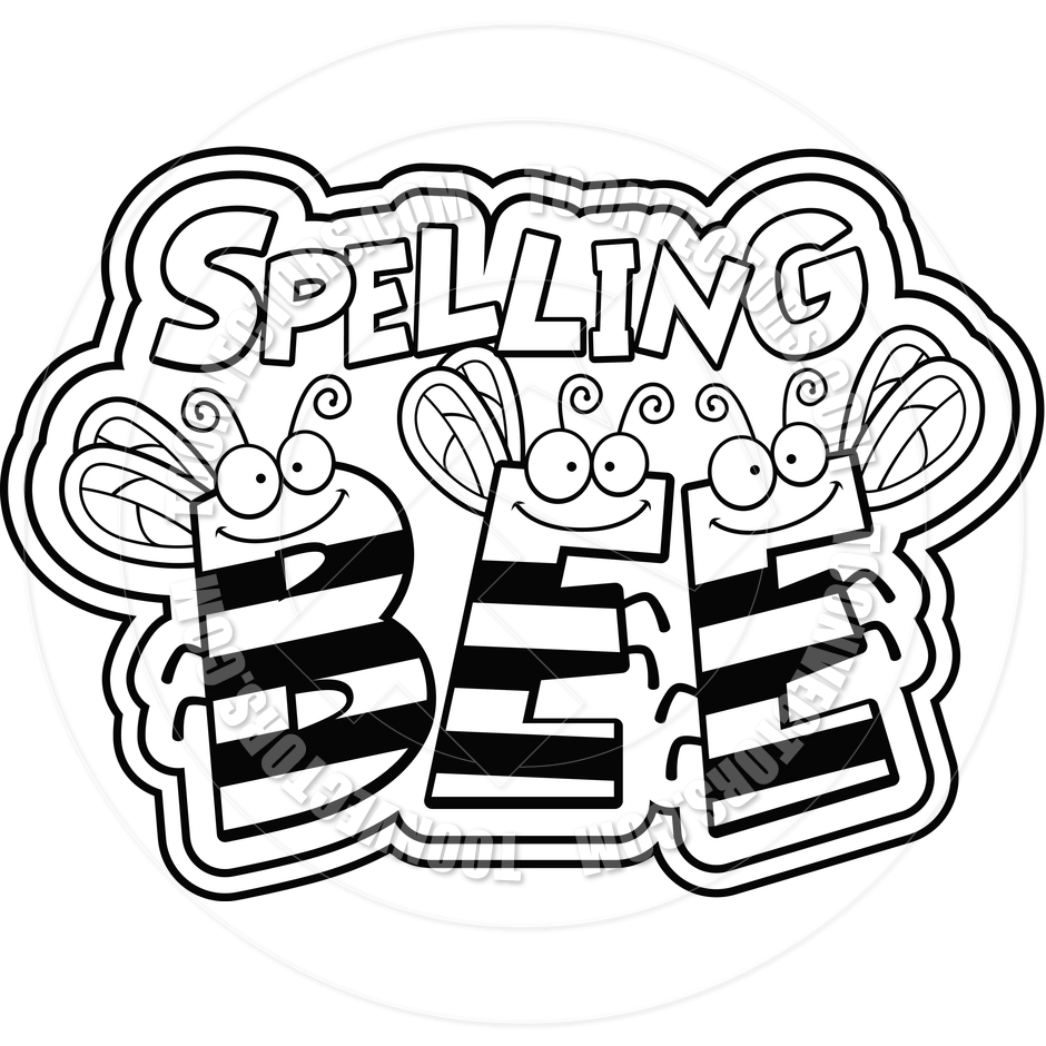 Spelling Bee Clipart Black And White   Clipart Panda   Free Clipart
