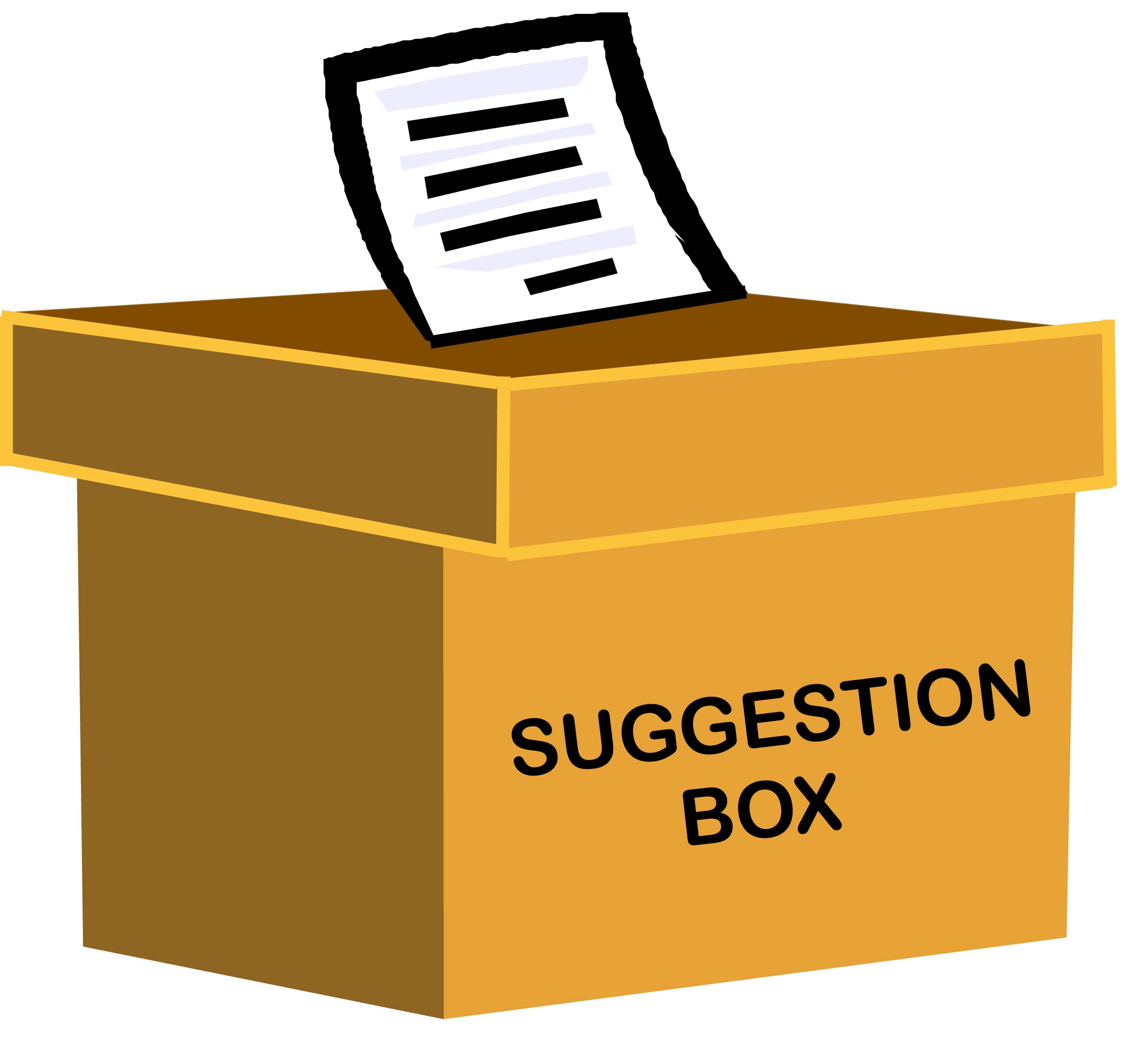 Image result for clip art of suggestion box