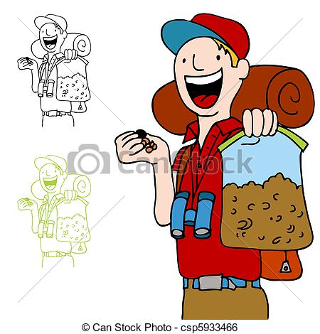 An Image Of A Hiker With A Bag Of Trailmix Snack