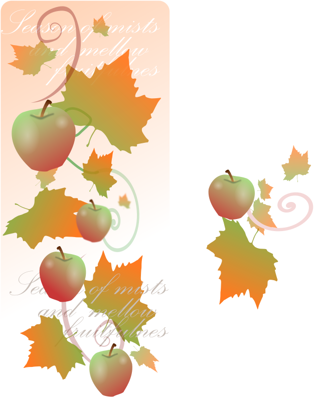 Autumn Decorations By Kattekrab   Created A Brochure For An Autumn