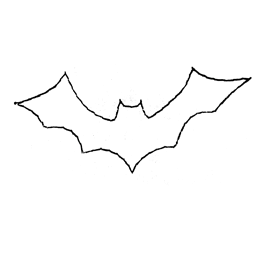 Bat Clipart Outline Bat   Outline