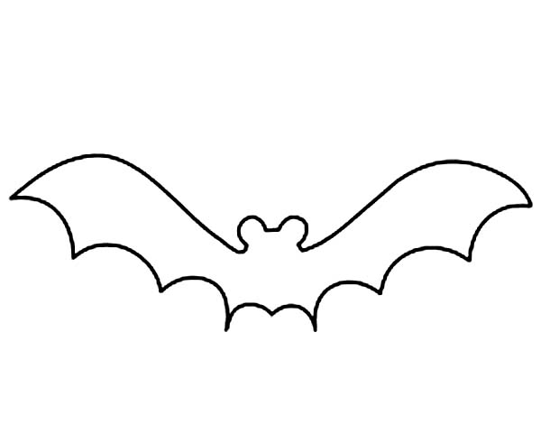 Bat Clipart Outline   Hvgj