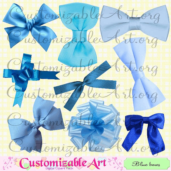 Blue Bow Clipart Digital Baby Blue Light Blue Bow Tie Ribbon Clip Art