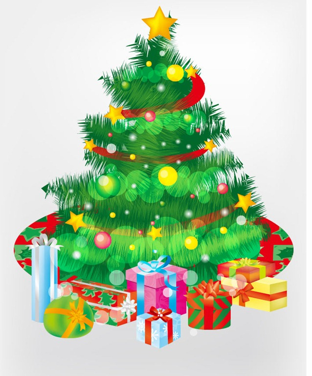 Christmas Tree And Gift Boxes Vector Graphic   Free Vector Graphics