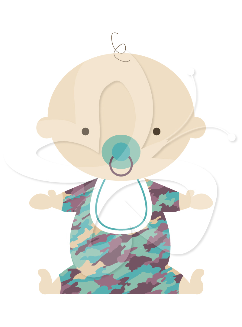 Camo Baby Clipart - Clipart Kid