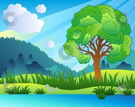 Landscape Clipart - Clipart Kid