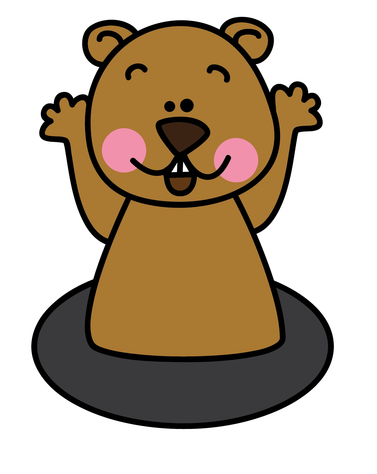 Pix For   Sleeping Groundhog Clipart