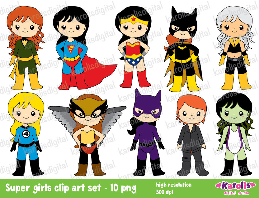 Superhero Girls Wonder Woman Cat Woman She By Karolisdigital