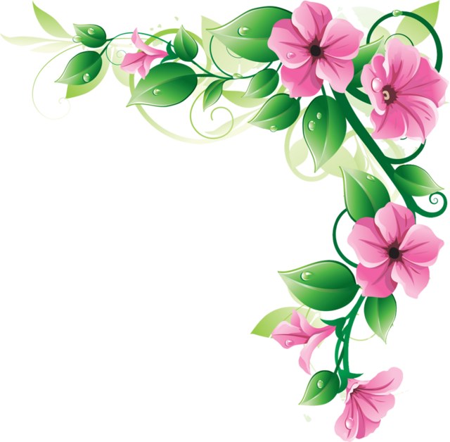 Clipart Flower Page Borders