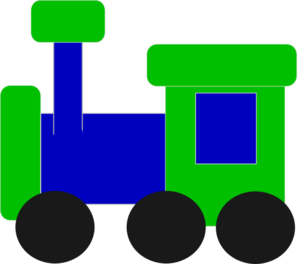Blue And Green Train Clip Art At Clker Com   Vector Clip Art Online