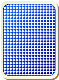 Card Backs Grid Blue Clipart