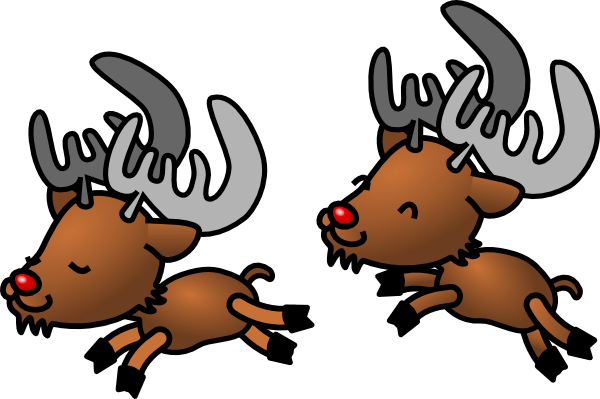 Cartoon Reindeer Clip Art At Clker Com   Vector Clip Art Online