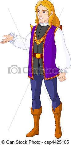 Clipart Vector Of Prince Charming   Illustration Of Prince Charming