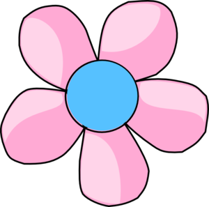 Daisy Pink And Blue Clip Art At Clker Com   Vector Clip Art Online