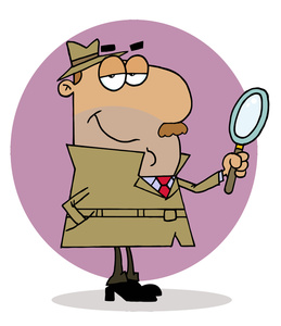 Detective Clipart Image   Detective Or Inspector With Magnifying Glass