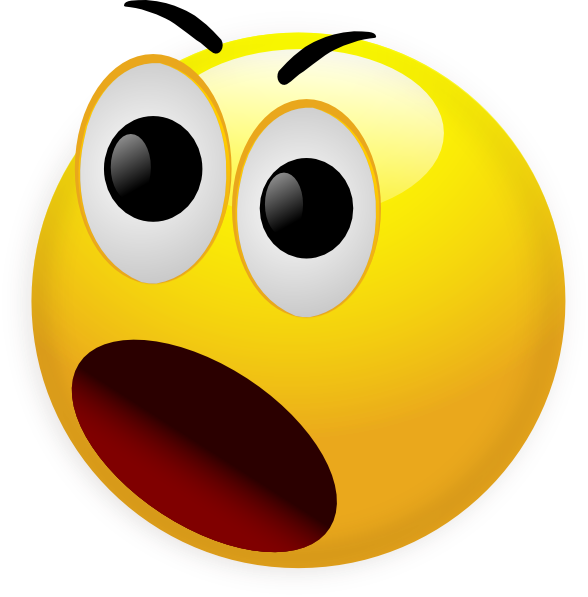 Emoticons Surprised Face   Clipart Best