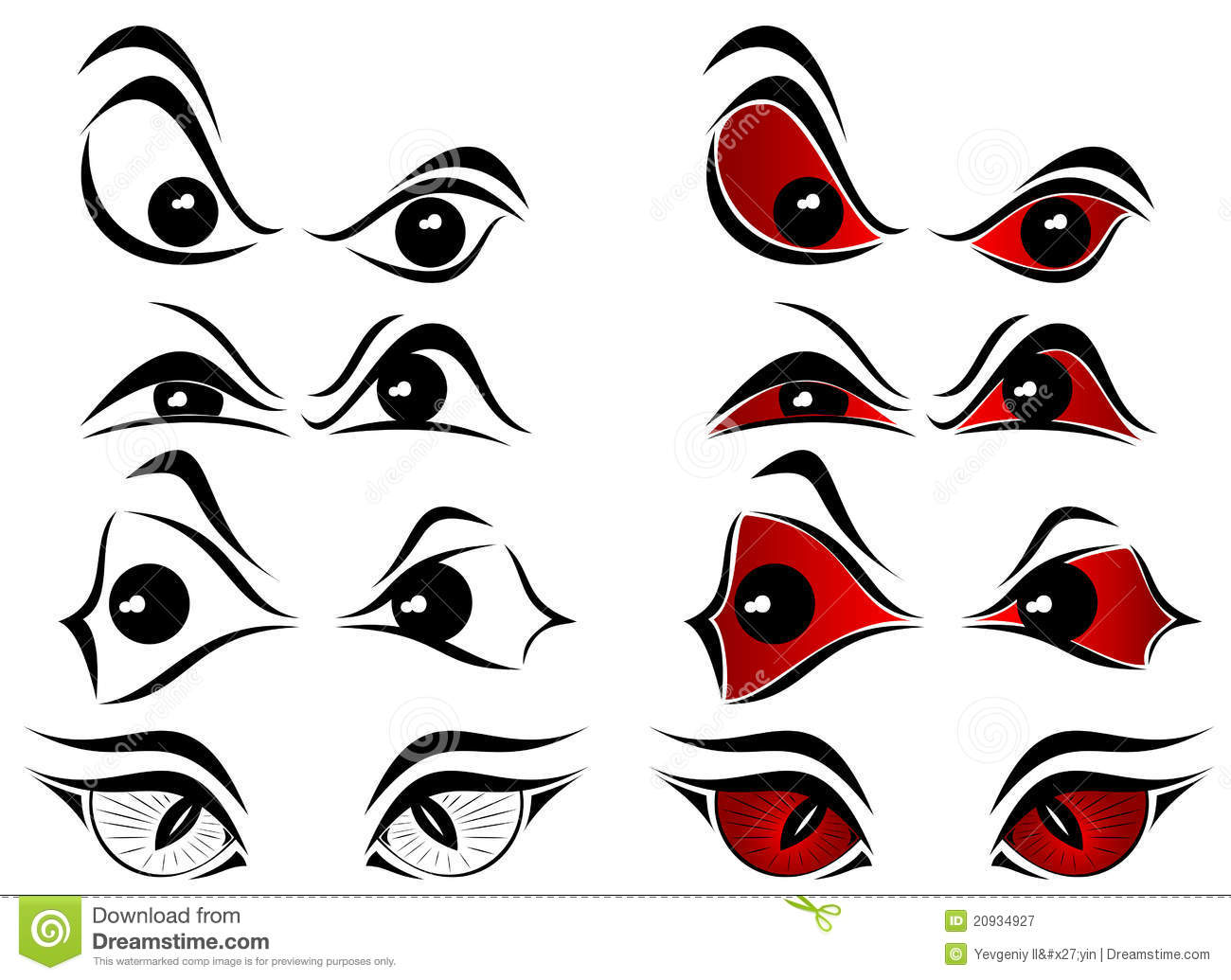 Clip Art Scary Eyes Clipart evil eyes clipart kid royalty free stock photography image 20934927