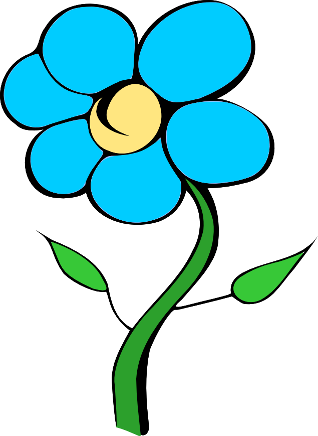Gallery For   Blue Daisy Clip Art