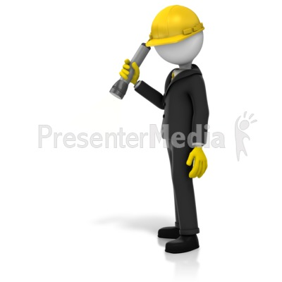 Inspector Searching Light   Presentation Clipart   Great Clipart For