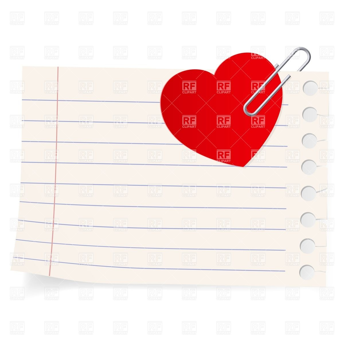 Love Note Clipart