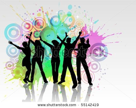 Party People Clip Art Stock Vector Grunge Party People Eps 55142419