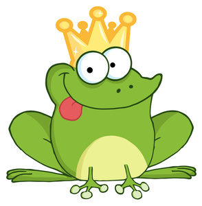 Prince Charming Clipart Image   Froggy Prince Charming With Crown