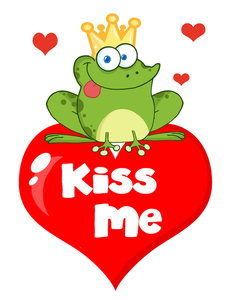 Prince Charming Clipart Image   Prince Charming Frog On Heart With