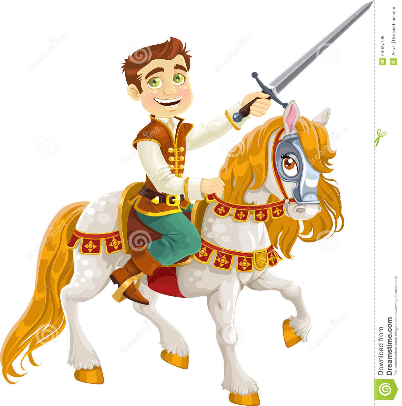 Prince Charming On A White Horse Royalty Free Stock Images   Image