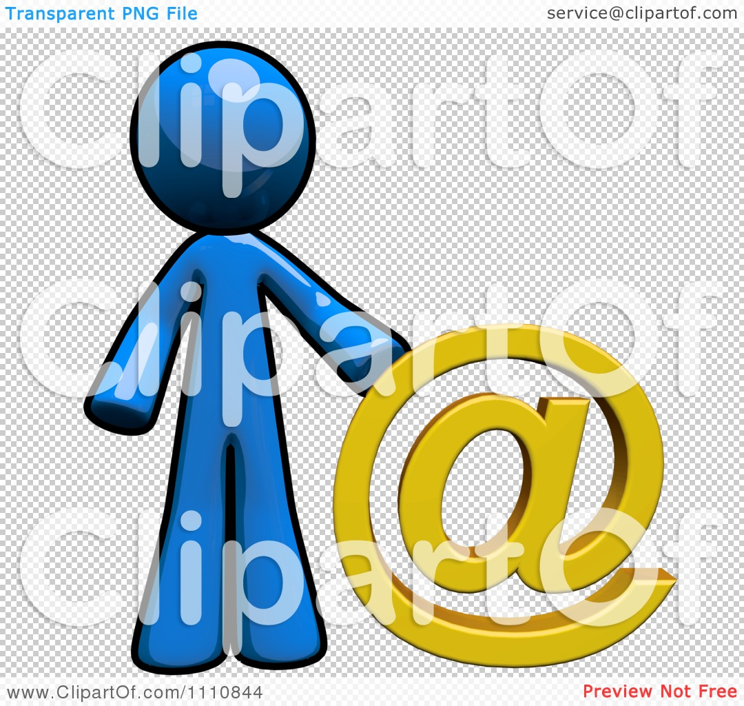 Stick People Mentoring Clipart Clipart Contact Blue Guy With An At